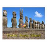 Easter Bunny Island Postcard