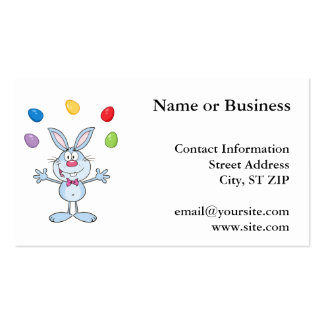 Easter Bunny Juggling Eggs Business Cards