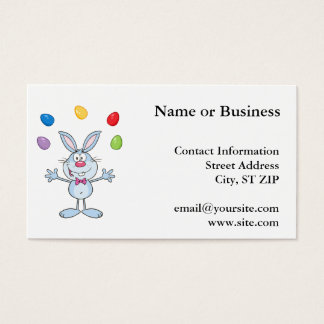 Easter Bunny Juggling Eggs Business Card
