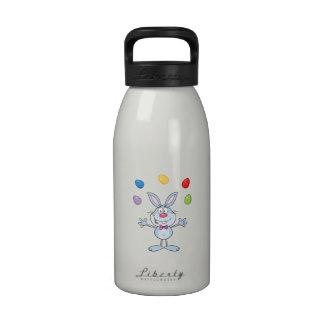Easter Bunny Juggling Eggs Reusable Water Bottle