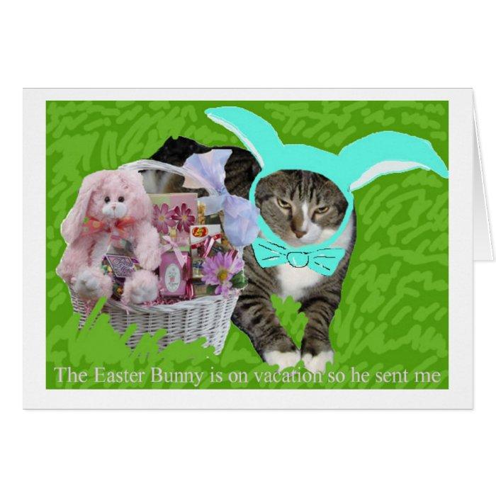 Easter Bunny Kitty Card