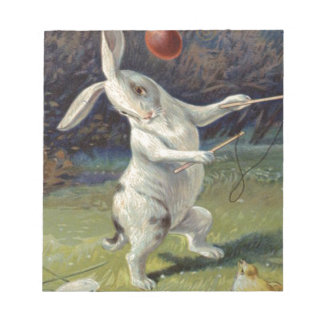 Easter Bunny Lily Colored Egg Note Pad