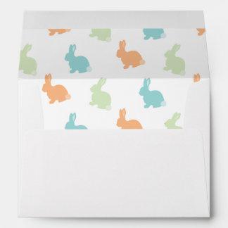 Easter Bunny Lined Blue Envelope