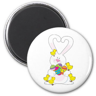 Easter Bunny Love 2 Inch Round Magnet