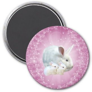 Easter Bunny Magic Magnet 3 Inch Round Magnet