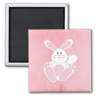 Easter Bunny 2 Inch Square Magnet