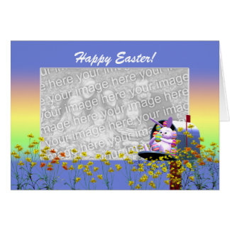 Easter Bunny Mail (photo frame) Card
