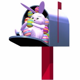 Easter Bunny Mail Standing Photo Sculpture