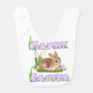Easter Bunny (Mauve) Baby Bib