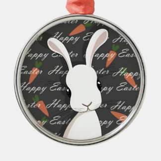 Easter bunny metal ornament
