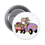 Easter Bunny Modern Deliveries Buttons