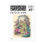 Easter Bunny Mom Child Colored Egg Postage