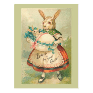 Easter Bunny Mother And Child Postcards