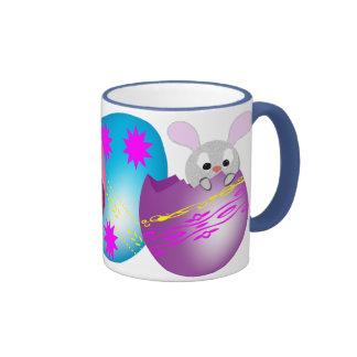 Easter Bunny Ringer Coffee Mug