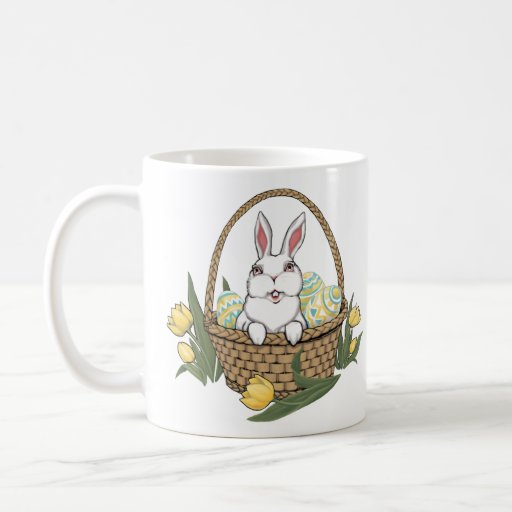 Easter Bunny Mug Coffee Cup Easter Bunny Cup