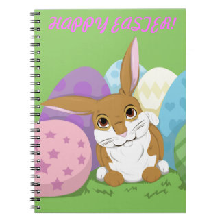 Easter Bunny Spiral Note Book