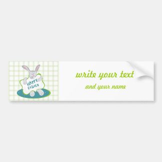 Easter Bunny on green Bumper Sticker