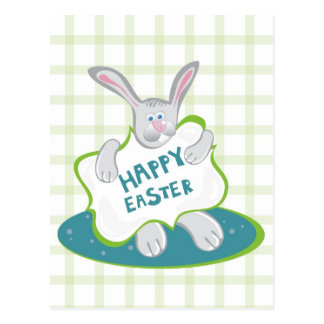 Easter Bunny on green Postcard