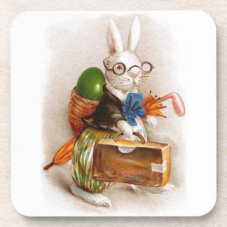 Easter Bunny on Tour Beverage Coasters