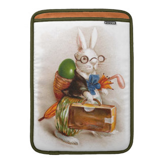 Easter Bunny on Tour MacBook Air Sleeves