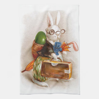 Easter Bunny on Tour Hand Towel