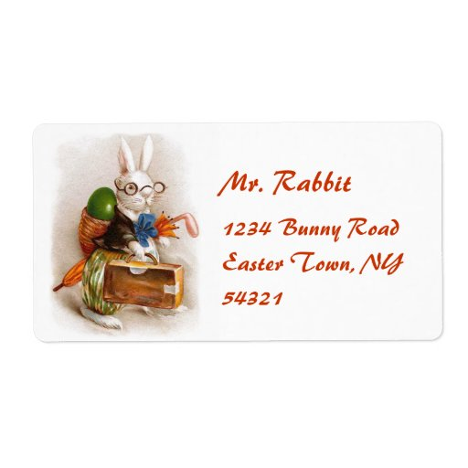 Easter Bunny on Tour Labels