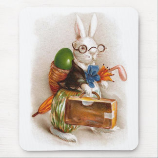 Easter Bunny on Tour Mouse Pad