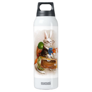 Easter Bunny on Tour 16 Oz Insulated SIGG Thermos Water Bottle