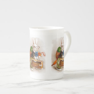 Easter Bunny on Tour Tea Cup