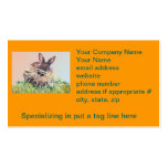 Easter Bunny or Nest Making Rabbit - Happy Easter Business Card