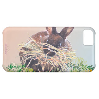 Easter Bunny or Nest Making Rabbit - Happy Easter iPhone 5C Cover