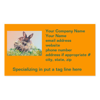 Easter Bunny or Nest Making Rabbit - Happy Easter Double-Sided Standard Business Cards (Pack Of 100)
