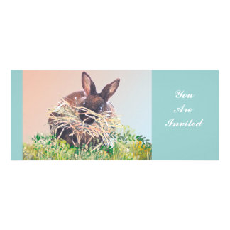 Easter Bunny or Nest Making Rabbit - Happy Easter Invite