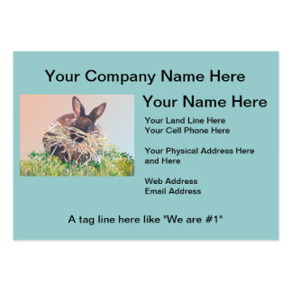 Easter Bunny or Nest Making Rabbit - Happy Easter Large Business Cards (Pack Of 100)