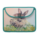 Easter Bunny or Nest Making Rabbit - Happy Easter MacBook Pro Sleeves