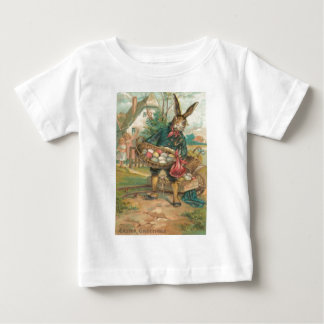 Easter Bunny Painted Colored Egg Children Cart Baby T-Shirt