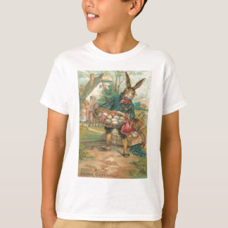 Easter Bunny Painted Colored Egg Children Cart T-Shirt