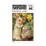 Easter Bunny Painting Egg Postage Stamps