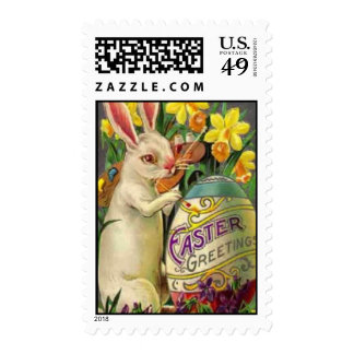 Easter Bunny Painting Egg Stamp