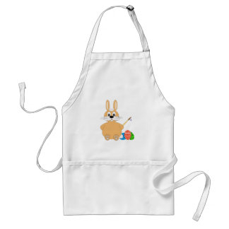 Easter Bunny Painting Eggs Adult Apron