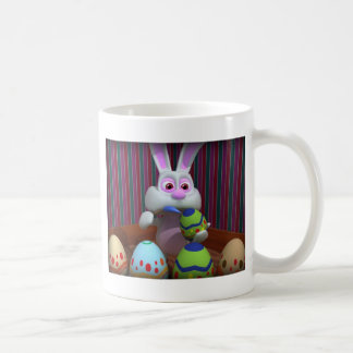 Easter Bunny Painting Eggs Coffee Mug