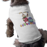 Easter Bunny Painting Eggs Dog Shirt