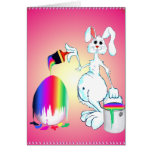 Easter Bunny Paints Card