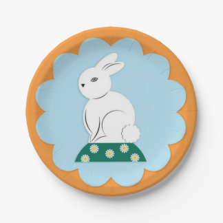 Easter Bunny Paper Plate 7 Inch Paper Plate