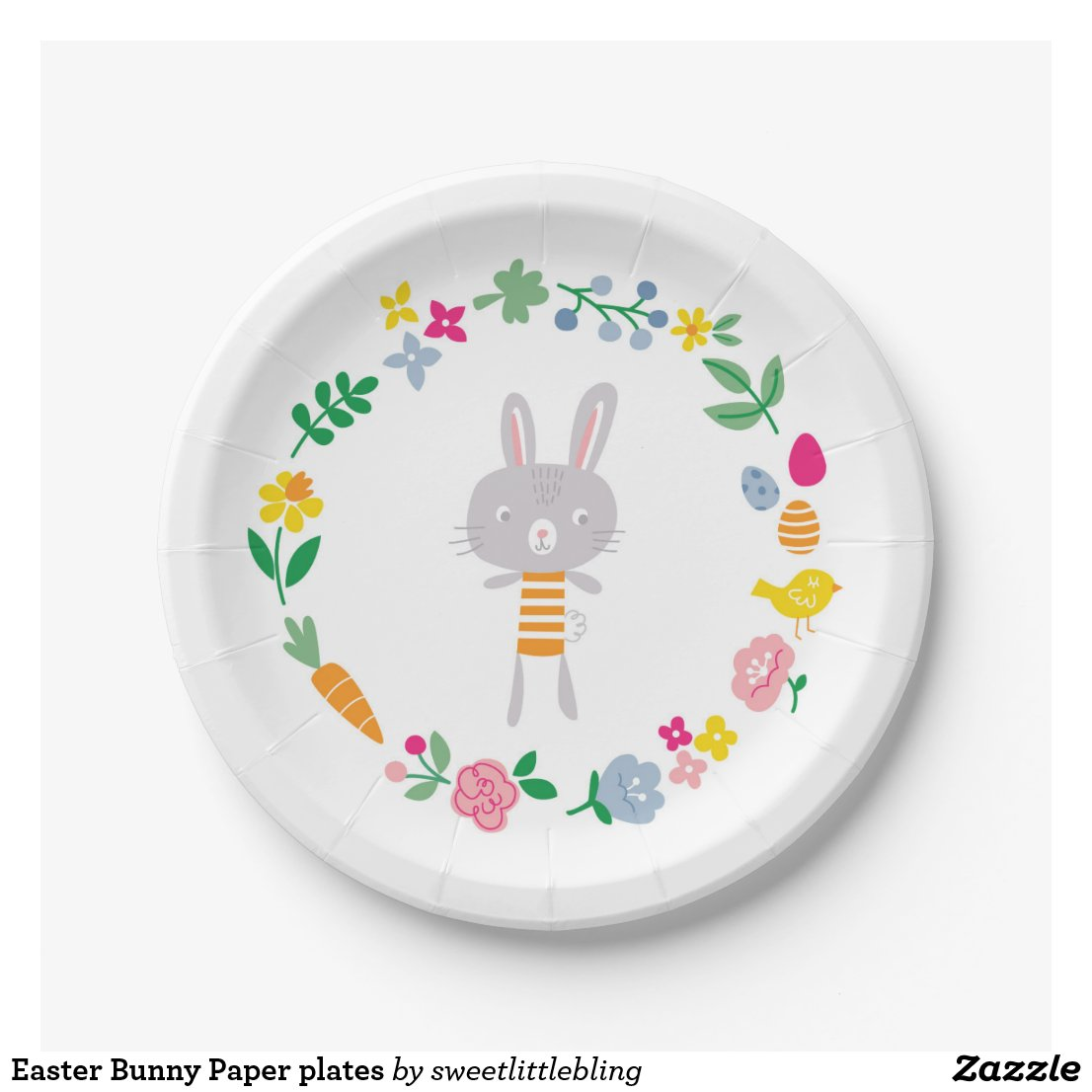 Easter Bunny Paper plates