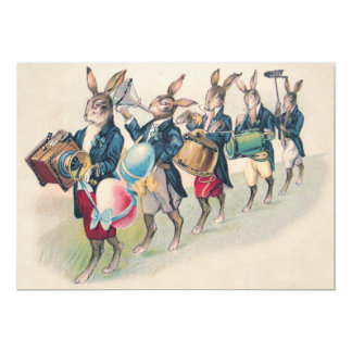 Easter Bunny Parade Band Egg Card