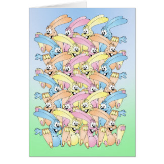 Easter Bunny Parade Greeting Card