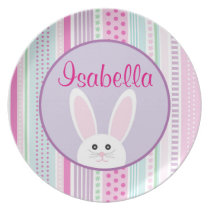 Easter Bunny Pastels - Personalized Melamine Plate
