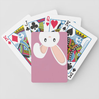 Easter Bunny peeping Bicycle Playing Cards