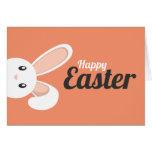 Easter Bunny peeping Card